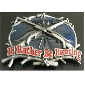 NEW I'd Rather be Hunting Belt Buckle